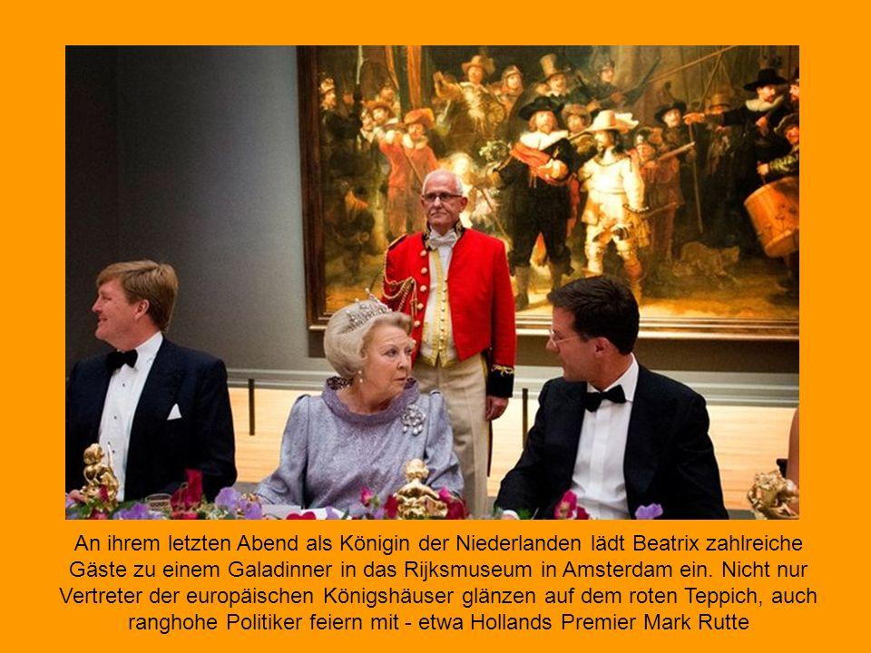Am 31. Januar 2013 feierte Beatrix ihren 75. Geburtstag, den letzten als Königin der Niederlande. Während ihrer Amtszeit beeindruckte sie mit zahlreic