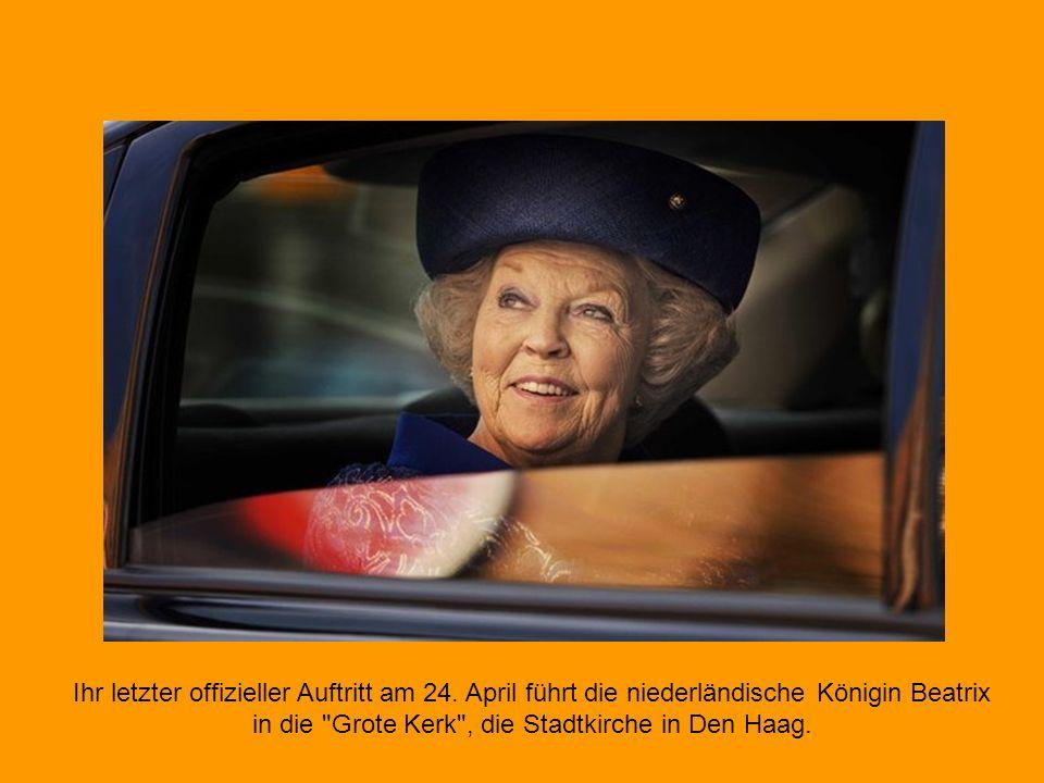 Der Thronfolger übernimmt: Willem-Alexander löst Königin Beatrix ab, seine Frau Máxima wird Königin, jedoch nur formal.