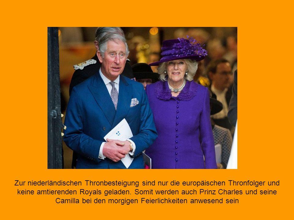 Der jüngste Sohn von Königin Beatrix, Prinz Constantijn, hält neben seiner Ehefrau Laurentien (re.) auch seine Schwägerin Mabel im Arm.