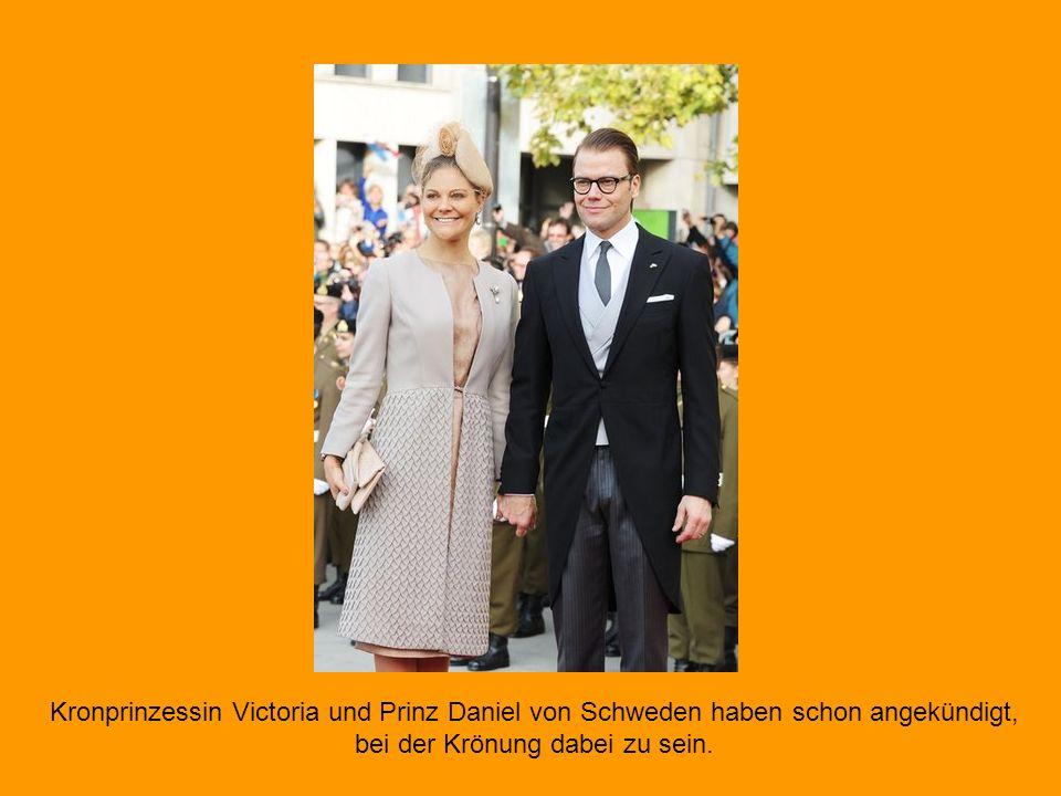 Zur niederländischen Thronbesteigung sind nur die europäischen Thronfolger und keine amtierenden Royals geladen. Somit werden auch Prinz Charles und s