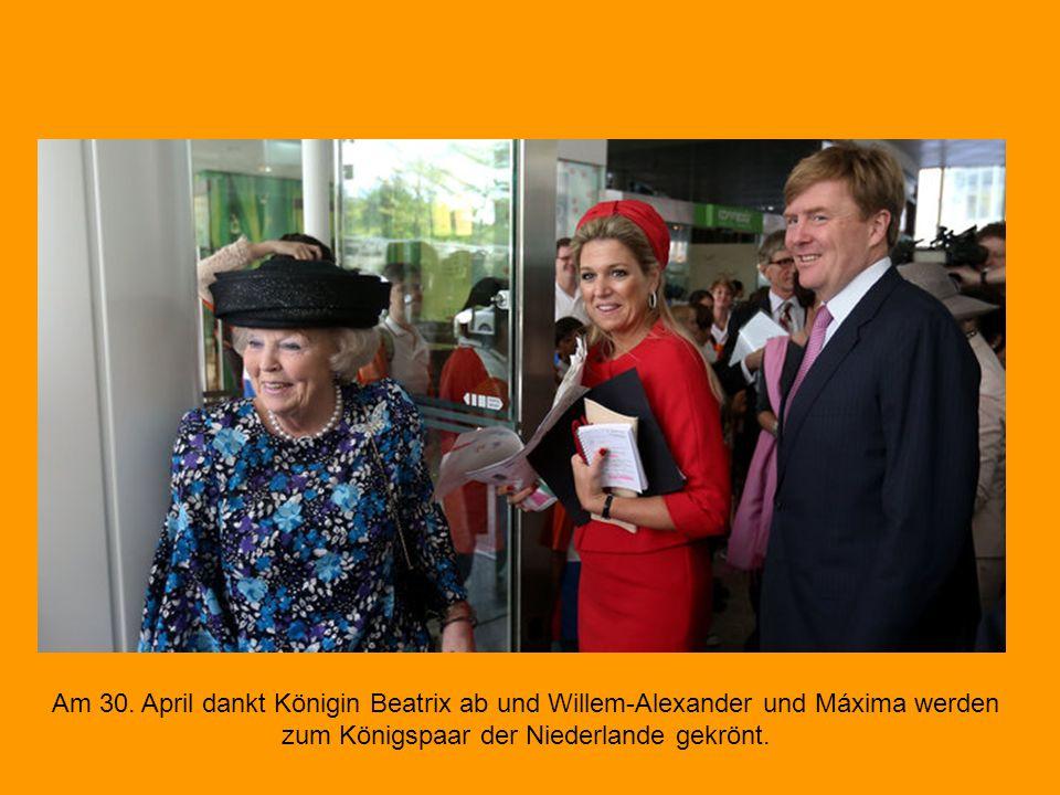 Am 31.Januar 2013 feierte Beatrix ihren 75. Geburtstag, den letzten als Königin der Niederlande.
