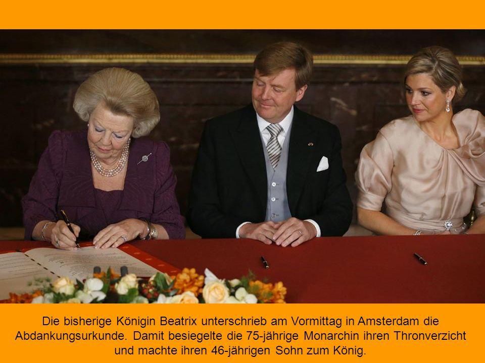 An diesem Dienstag wird der älteste Sohn von Königin Beatrix, Prinz Willem- Alexander, drei Tage nach seinem 46. Geburtstag Amtsnachfolger seiner Mutt