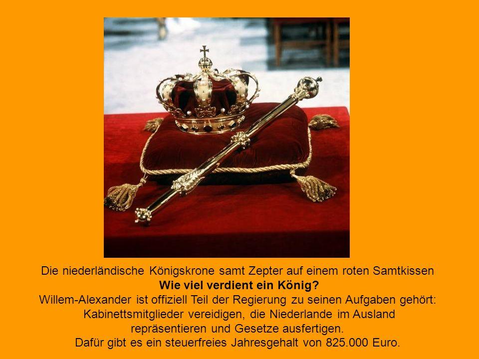 Anschließend zog sich die königliche Familie in den Palast zurück, um sich auf die feierliche Amtseinführung um 14 Uhr in der Nieuwe Kerk vorzubereite