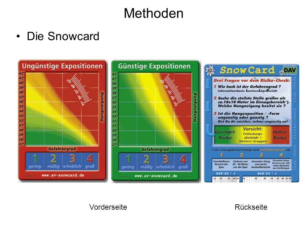 Methoden Die Snowcard VorderseiteRückseite