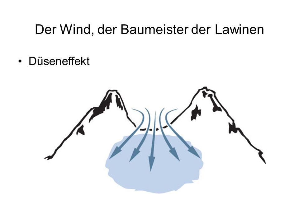 Der Wind, der Baumeister der Lawinen Düseneffekt
