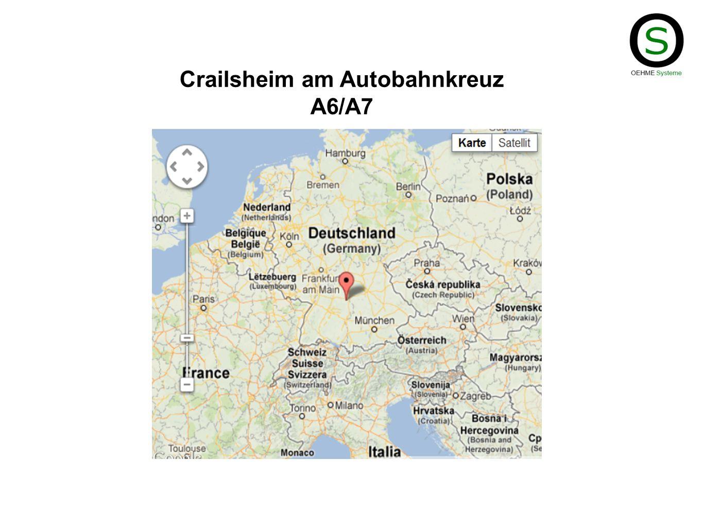 Crailsheim am Autobahnkreuz A6/A7