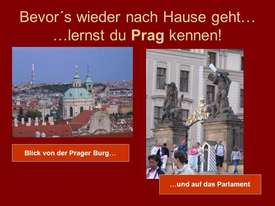 Bevor´s wieder nach Hause geht… …lernst du Prag kennen.