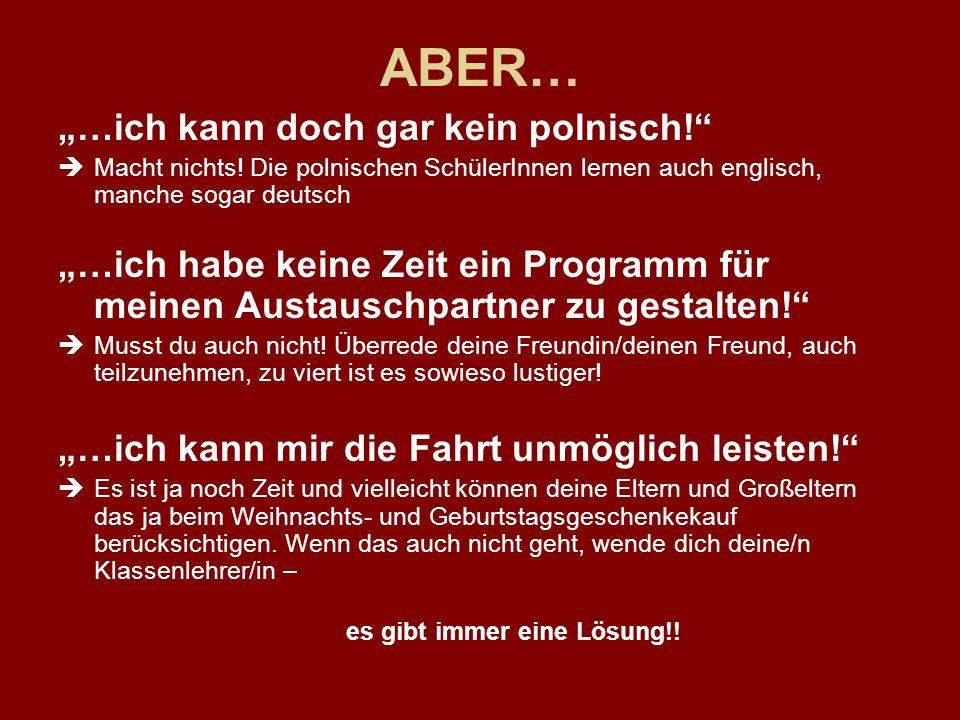 ABER… …ich kann doch gar kein polnisch. Macht nichts.