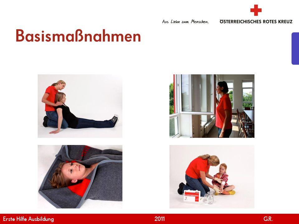 www.roteskreuz.at Version April | 2011 Basismaßnahmen 13 Erste Hilfe Ausbildung 2011 G.R.