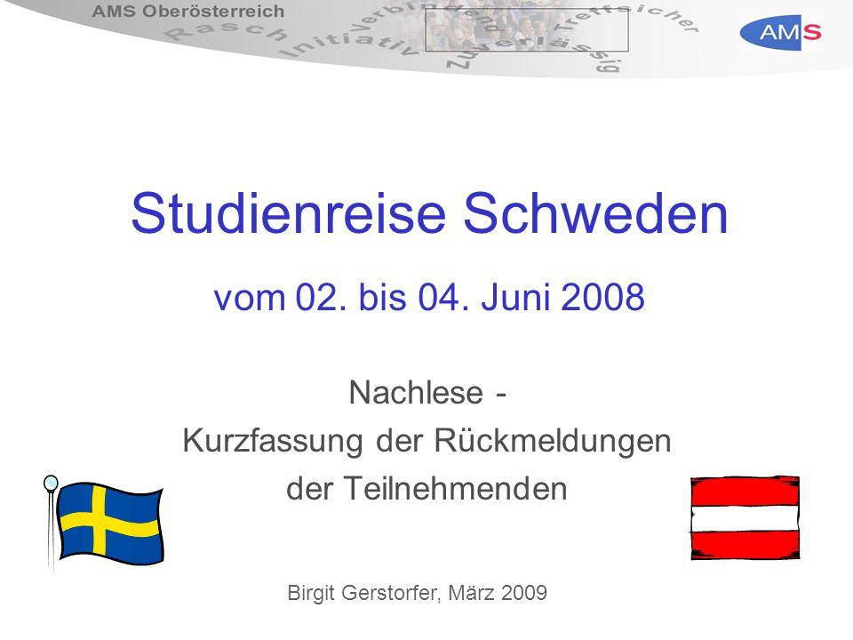 Studienreise Schweden vom 02. bis 04.
