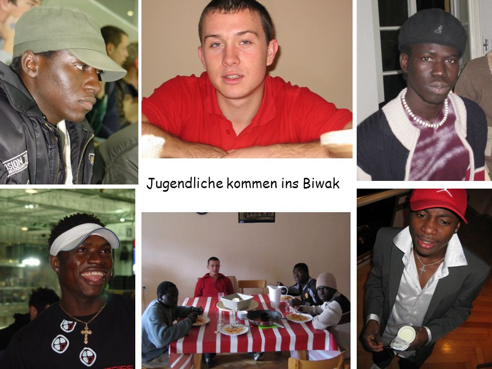 Jugendliche kommen ins Biwak