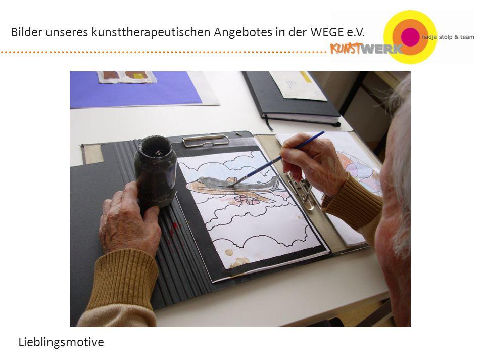 Fertig...! Bilder unseres kunsttherapeutischen Angebotes in der WEGE e.V.