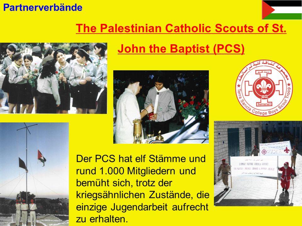 Catholic Scout Association in Israel (CSAI) Die CSAI ist Mitglied in der Israel Boy and Girl Scouts Federation (Ringverband) und hat etwa 2.500 Mitglieder.