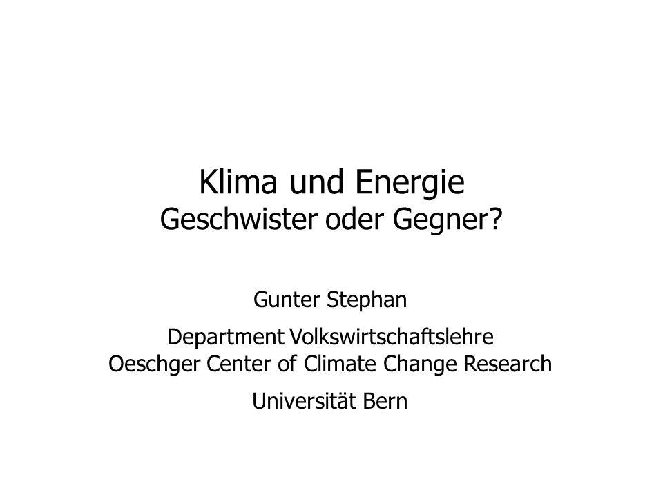 Klima und Energie Geschwister oder Gegner.