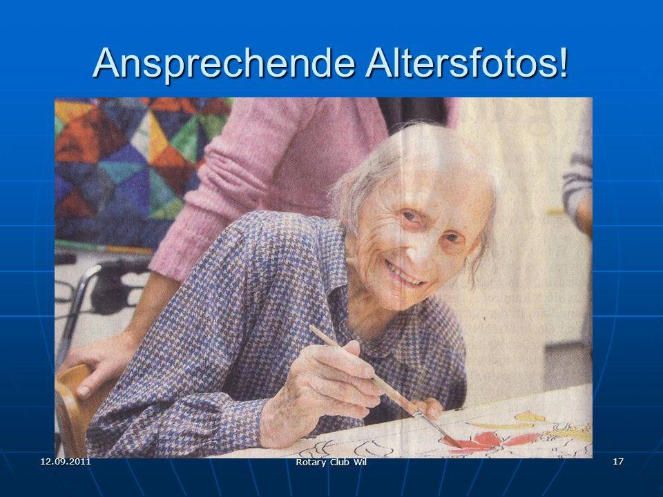 12.09.2011 Rotary Club Wil 17 Ansprechende Altersfotos!