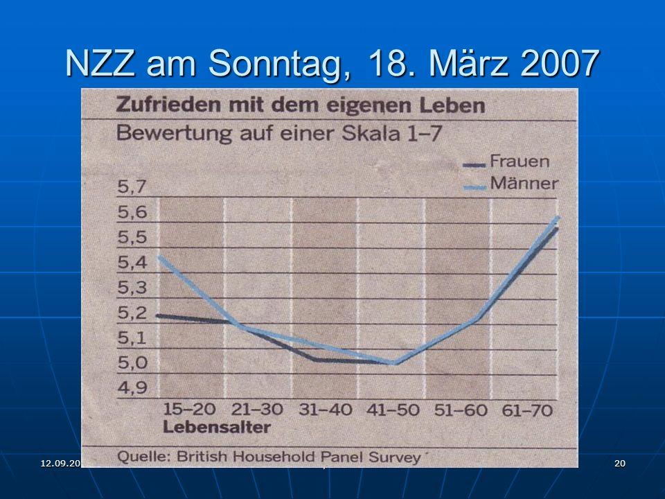 12.09.2011 Rotary Club Wil 20 NZZ am Sonntag, 18. März 2007