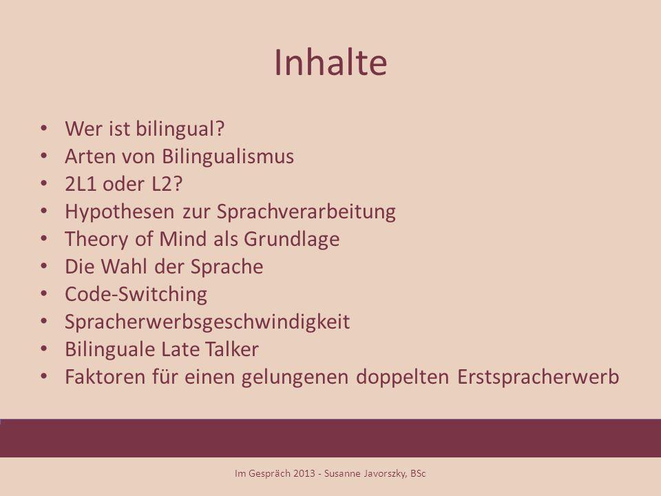 Wer ist bilingual.
