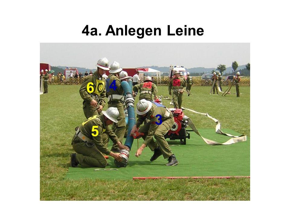4a. Anlegen Leine 4 5 6 3