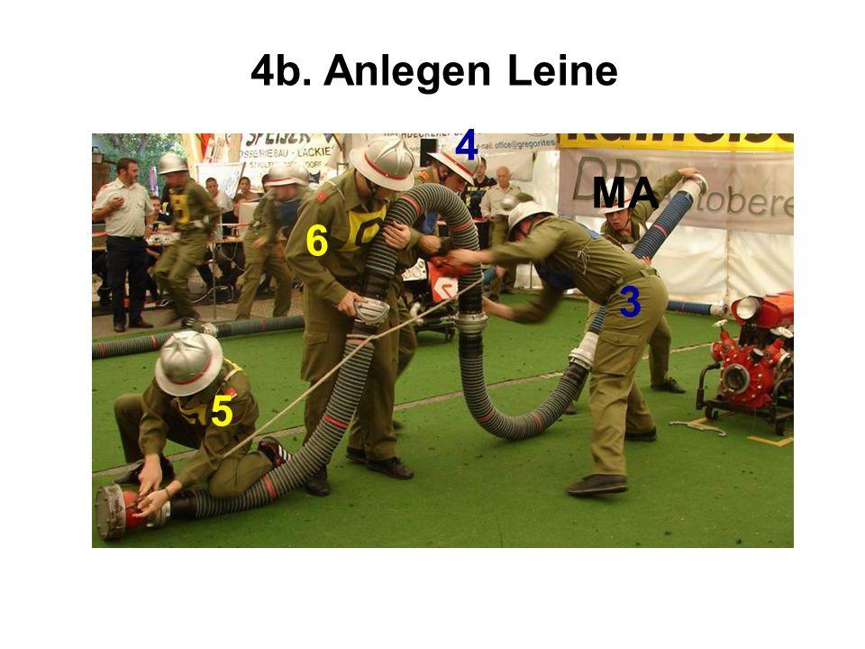 4b. Anlegen Leine 5 6 4 3 MA