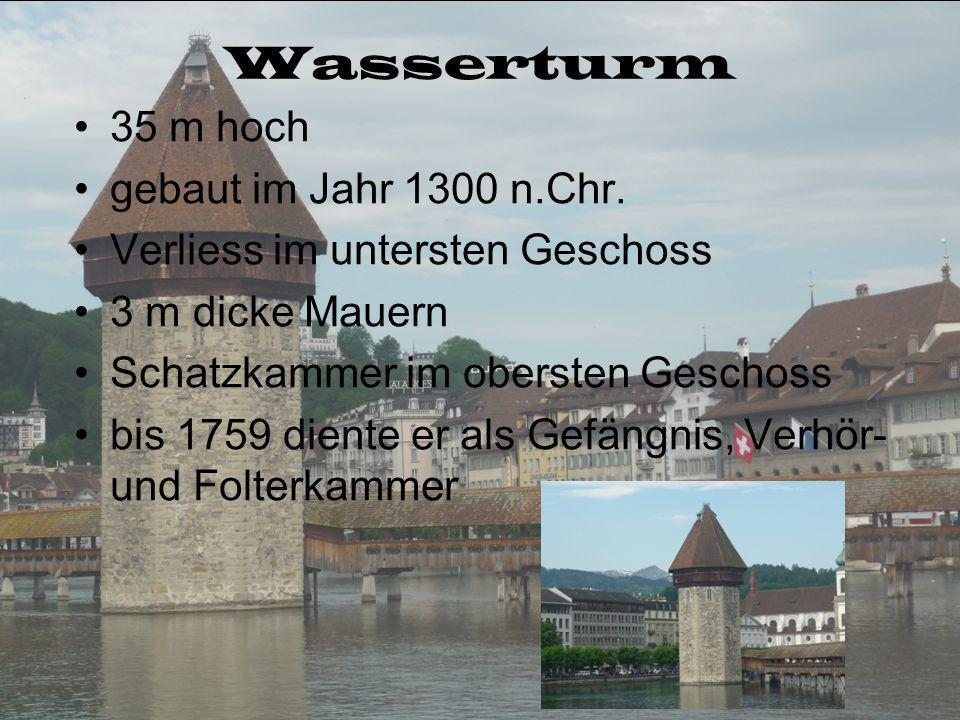 Sehenswürdigkeiten Wasserturm Kappelbrücke Löwendenkmal Museggmauer KKL Nadelwehranlage Ritterscher Palast Hofkirche
