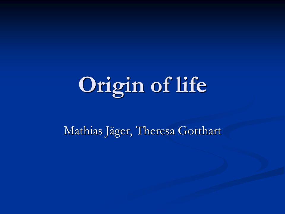 Der Anfang Entstehung der Erde / Sonnensystem: Entstehung der Erde / Sonnensystem: 4.6 Gyr Erstes Leben: 3.5 Gyr (Bakterien) Erstes Leben: 3.5 Gyr (Bakterien) Woher kam das Leben.