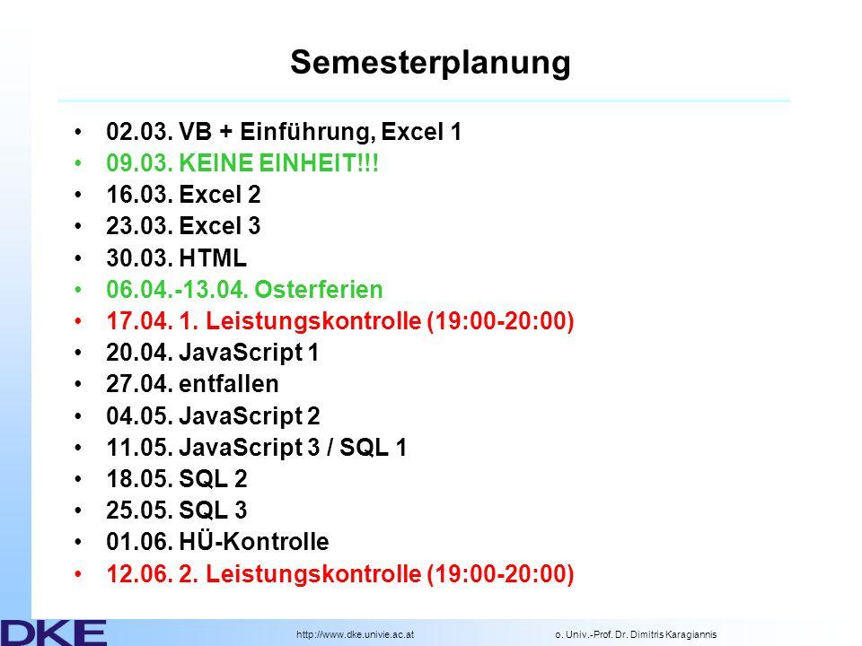 http://www.dke.univie.ac.ato.Univ.-Prof. Dr.