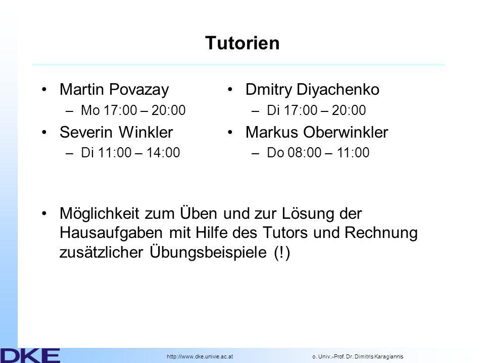 http://www.dke.univie.ac.ato. Univ.-Prof. Dr.