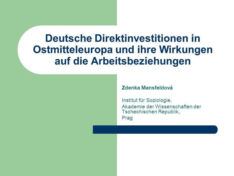 Die existierende Systeme der Arbeitsbeziehungen in drei mittel/osteuropäischen Ländern (Polen, Tschechien, Slowakei) als Rahmenbedingungen der neuen Arbeitsbeziehungen