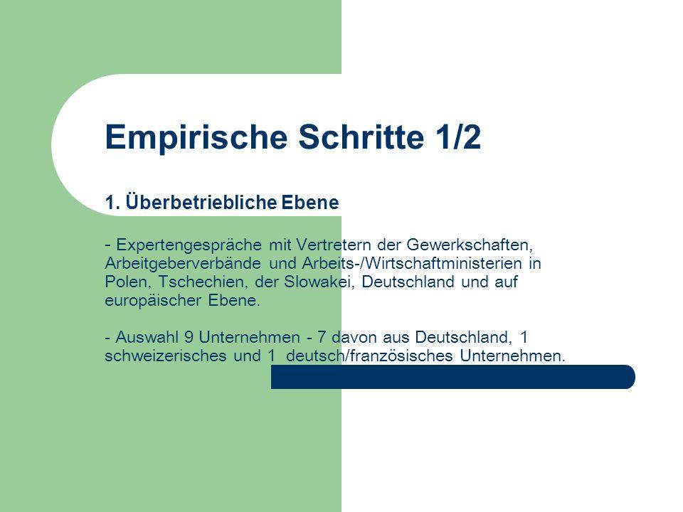 Vielen Dank für die Aufmerksamkeit Deutsche Direktinvestitionen in Ostmitteleuropa und ihre Wirkungen auf die Arbeitsbeziehungen