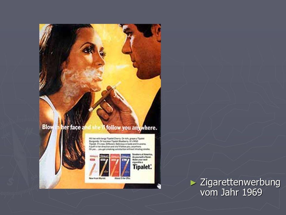 Zigarettenwerbung vom Jahr 1969 Zigarettenwerbung vom Jahr 1969