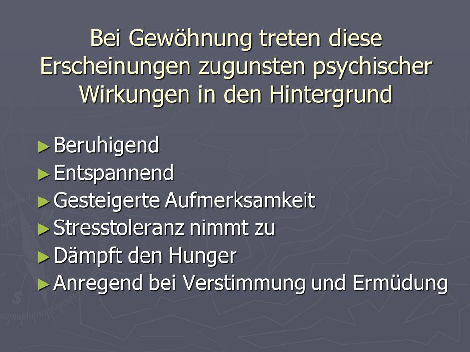 Hypnose: Hypnose: *Raucher/in in Trance versetzt *Raucher/in in Trance versetzt * Wirkt auf das Unbewusste * Wirkt auf das Unbewusste * Hypnosetherapeut/in verknüpft das Rauchen mit unangenehmen Vorstellungen (negative Botschaft in der Erinnerung) * Hypnosetherapeut/in verknüpft das Rauchen mit unangenehmen Vorstellungen (negative Botschaft in der Erinnerung) * Positive Gefühle an neue Nichtrauchersituationen werden hergestellt * Positive Gefühle an neue Nichtrauchersituationen werden hergestellt Autogenes Training: Autogenes Training: * Formelhafte Vorsatzbildung * Formelhafte Vorsatzbildung