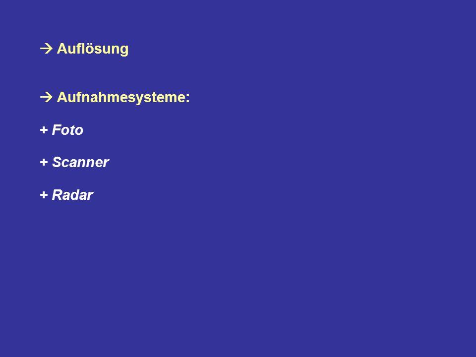 Auflösung in der Optik und der Fototechnik + das Auflösungsvermögen, nahe beieinanderliegende Objekte zu unterscheiden; + das Auflösungsvermögen von fotografischen Objektiven und fotografischem Film; + die Bildauflösung bei Digitalkameras; (absolut; 4,2 Megapixel) in der Computer- und Videotechnik + die Auflösung eines Bildschirms; (1024 x 768) im Druck + die Auflösung eines Druckers oder Belichters; (relativ, dpi)