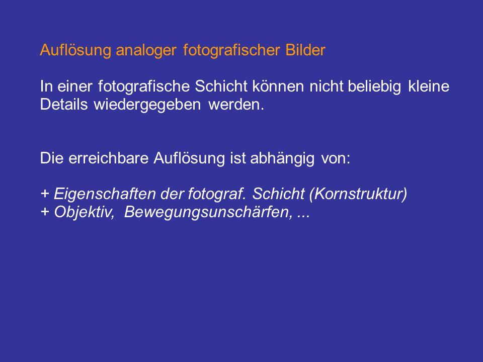Fotografische Aufnahmesysteme Die klassische fotografische Aufnahme von Luft- und Satellitenbildern beruht auf der bekannten Methode der Fotografie, wobei die fotografische, lichtempfindliche Schicht eines Filmes als analoges Speichermedium dient.