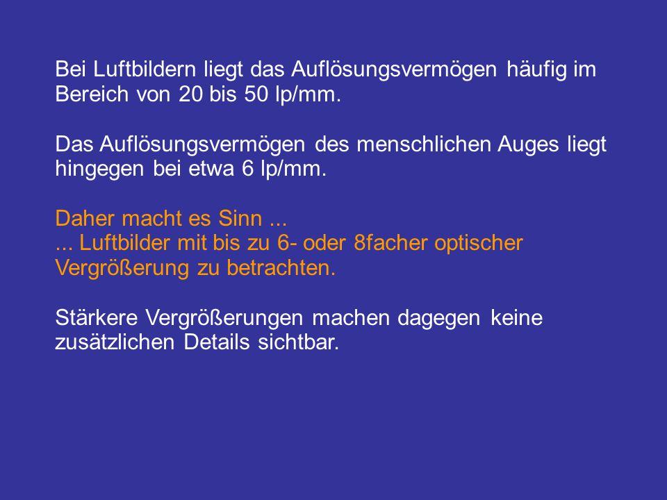 Filme für die Luftbildaufnahme (Auswahl 1)