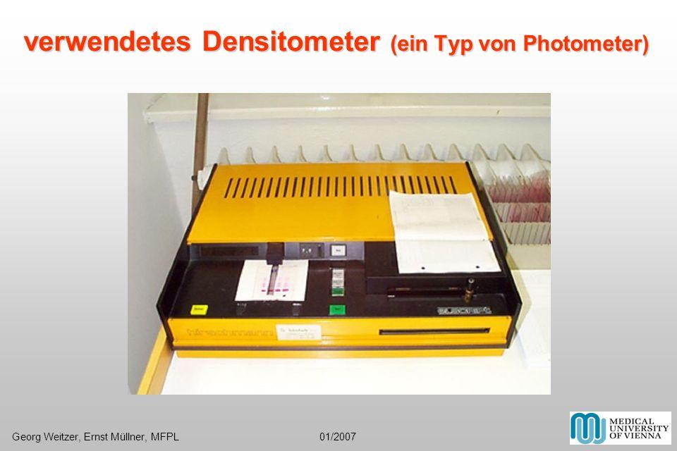 verwendetes Densitometer (ein Typ von Photometer) Georg Weitzer, Ernst Müllner, MFPL 01/2007