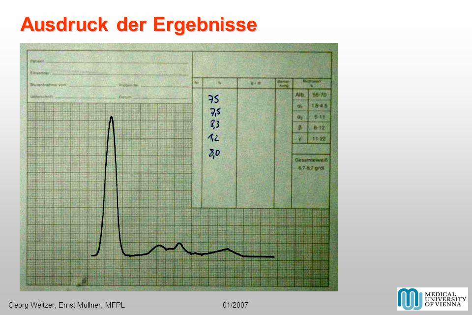 Ausdruck der Ergebnisse Georg Weitzer, Ernst Müllner, MFPL 01/2007
