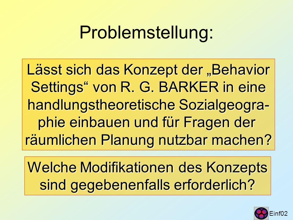 Programm und Arbeitsplan Einf03 Rekonstruktion der Primärkonzeption des Rekonstruktion der Primärkonzeption des BS bei R.