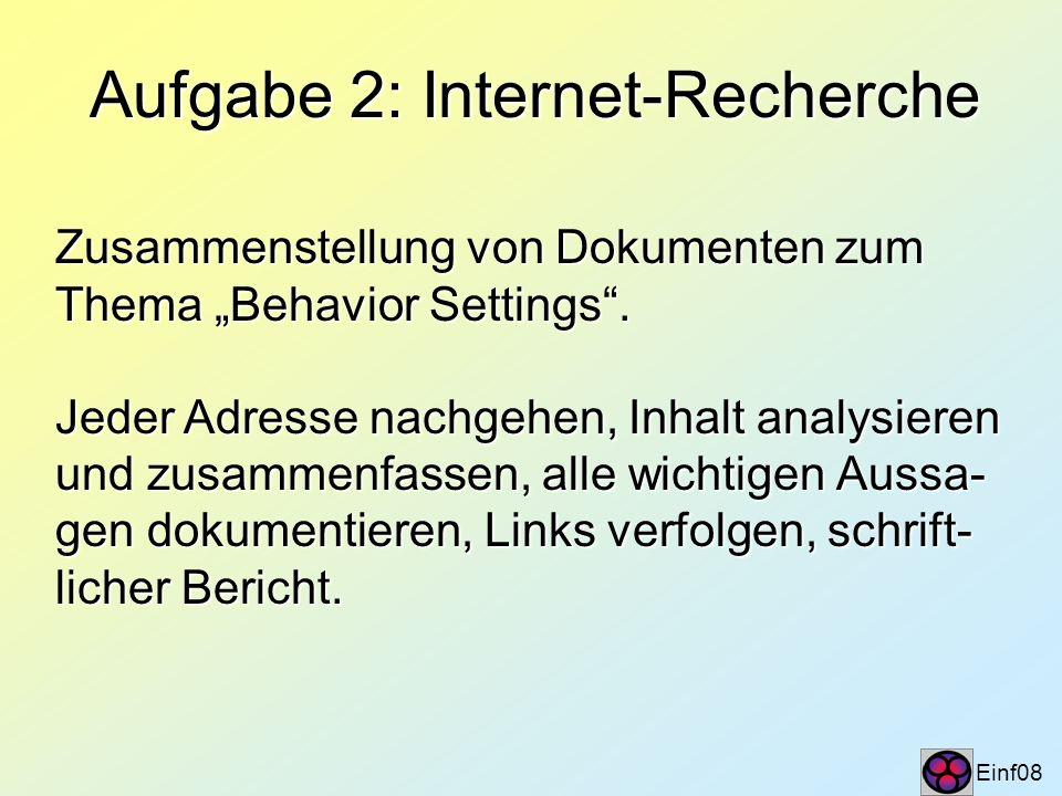 Permanente Aufgabe: Literaturdatei Einf09 Auf der Seminar-Homepage wird eine anno- tierte Literaturdatei eingerichtet.