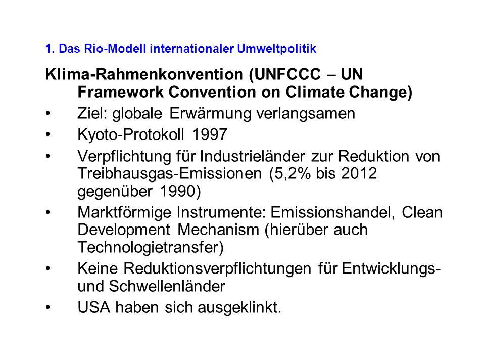 1.Internationale Umweltprobleme sind nicht einfach gegeben.