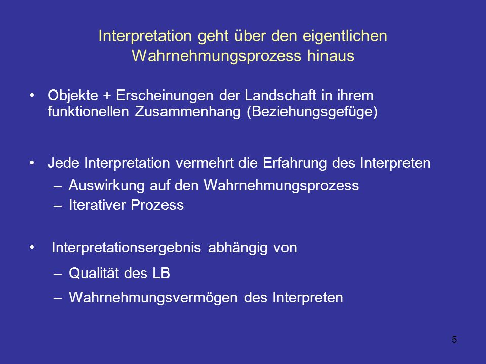 6 Interpretationsvorgang