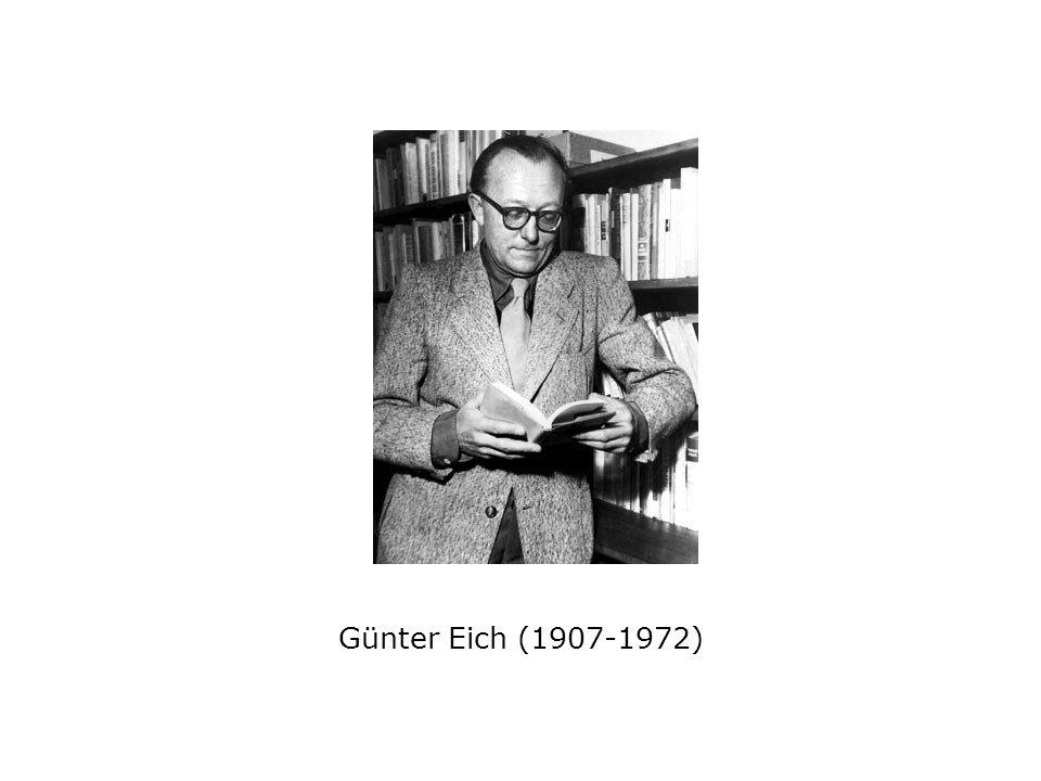 Günter Eich (1907-1972)