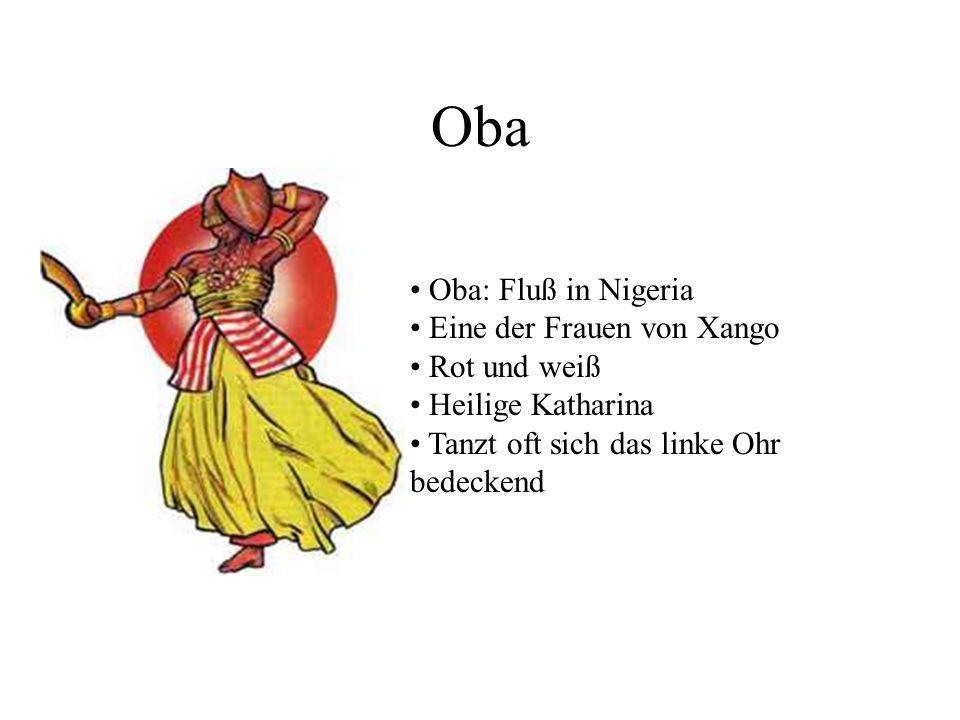 Oba Oba: Fluß in Nigeria Eine der Frauen von Xango Rot und weiß Heilige Katharina Tanzt oft sich das linke Ohr bedeckend