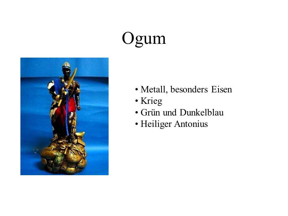 Ogum Metall, besonders Eisen Krieg Grün und Dunkelblau Heiliger Antonius