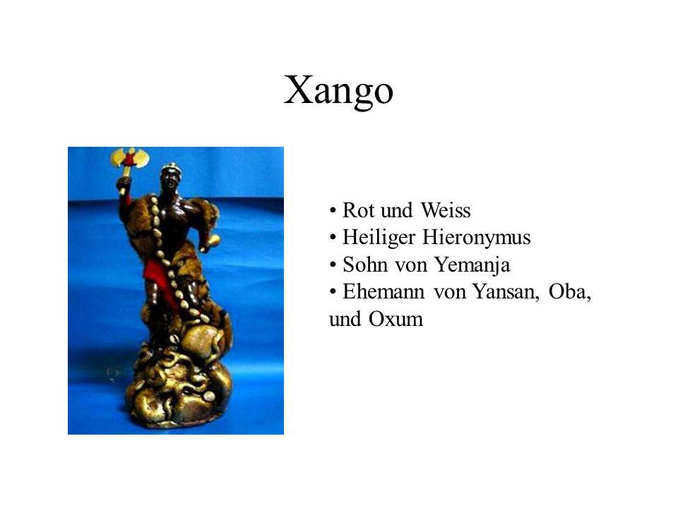 Xango Rot und Weiss Heiliger Hieronymus Sohn von Yemanja Ehemann von Yansan, Oba, und Oxum