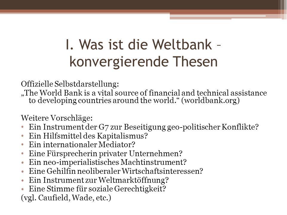 II. Die Geschichte der Weltbank