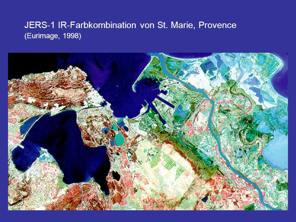 JERS-1 IR-Farbkombination von St. Marie, Provence (Eurimage, 1998)