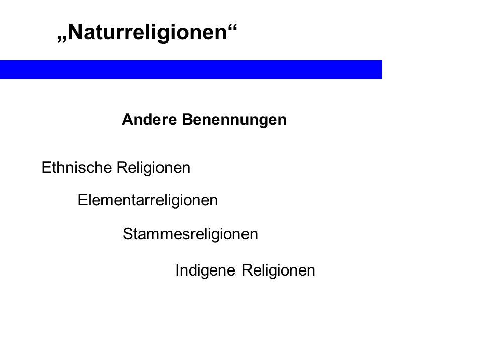 Naturreligionen Andere Benennungen Ethnische Religionen Elementarreligionen Indigene Religionen Stammesreligionen