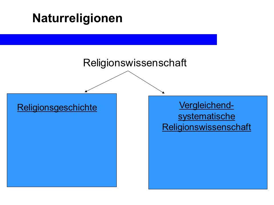 Naturreligionen Religionswissenschaft Religionsgeschichte Vergleichend- systematische Religionswissenschaft