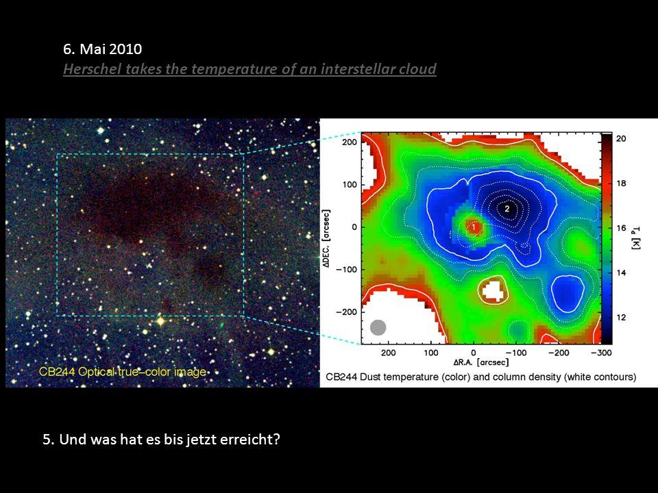 6. Mai 2010 Herschel takes the temperature of an interstellar cloud