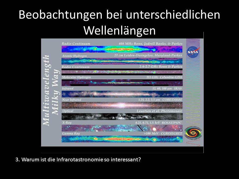 Beobachtungen bei unterschiedlichen Wellenlängen 3. Warum ist die Infrarotastronomie so interessant?